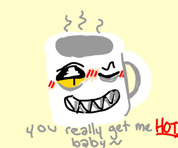 Pervy mug winks at you
