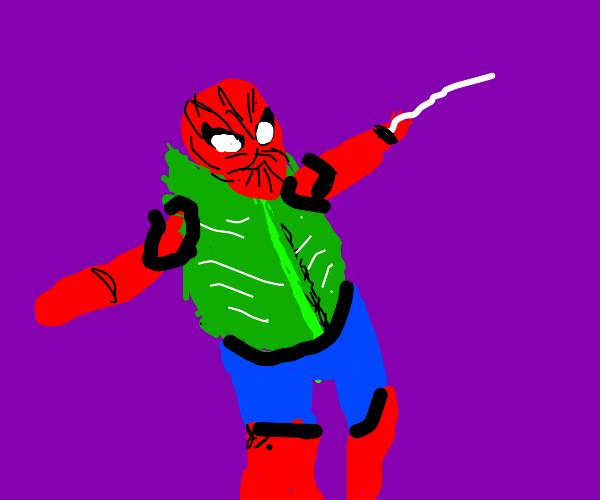 spiderman leaf