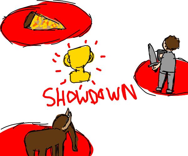 Man vs Pizza vs Mammoth showdown