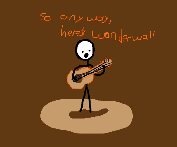 stickman has a guitar