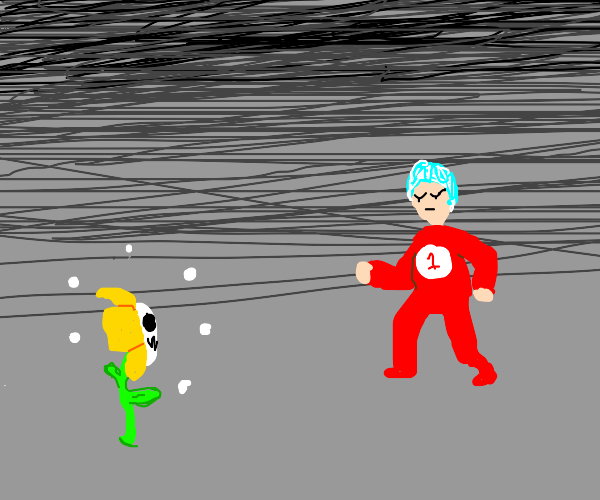 Thing 1 and flowey fighting