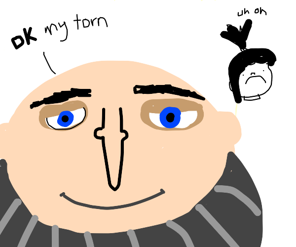 Gru is about to commit child abuse