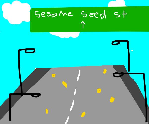 A literal sesame street