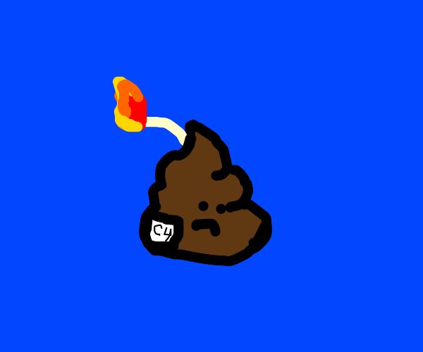 Sad poop bomb