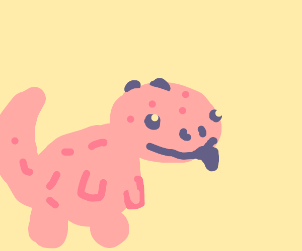 Pink-speckled lizard