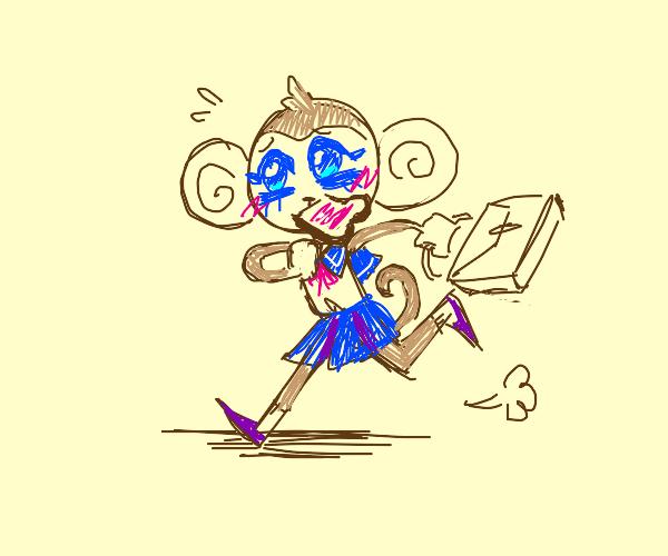 Monkey anime girl