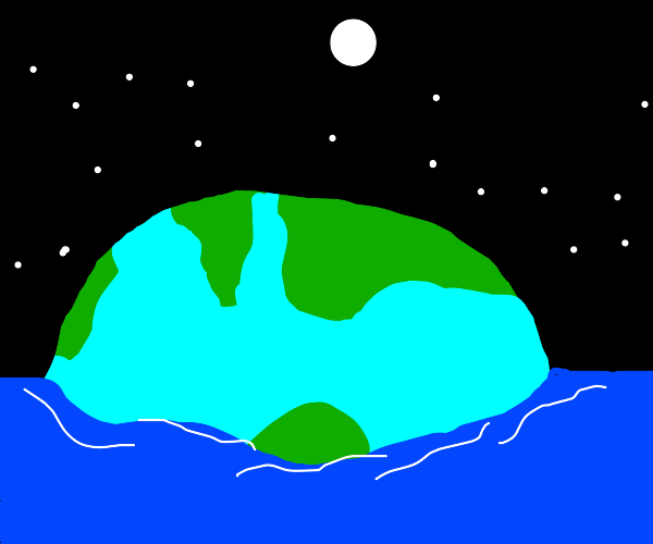 Planet earth is in a larger ocean