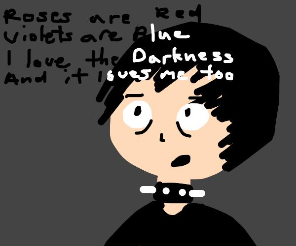Depressed anime e-boy