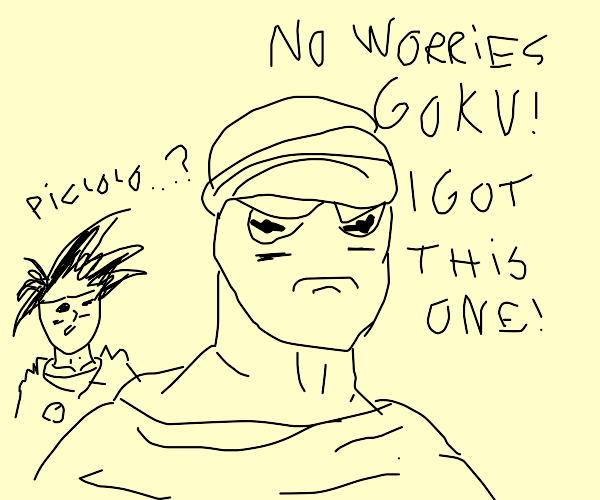 z warriors but piccolo is kermit the frog