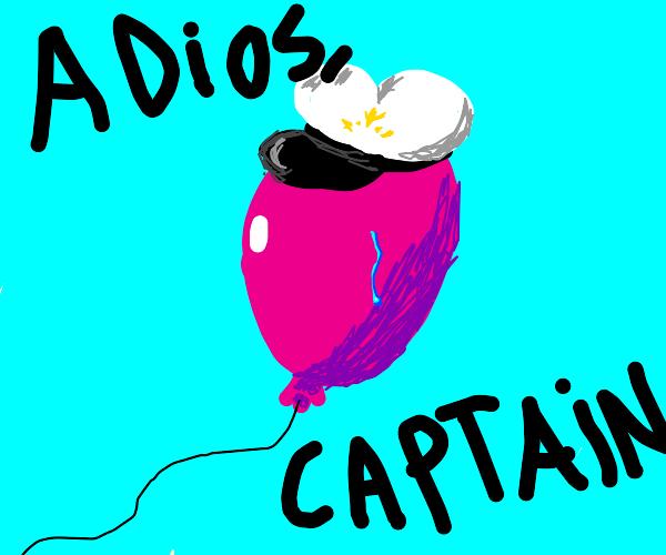 Captain balloon flys away