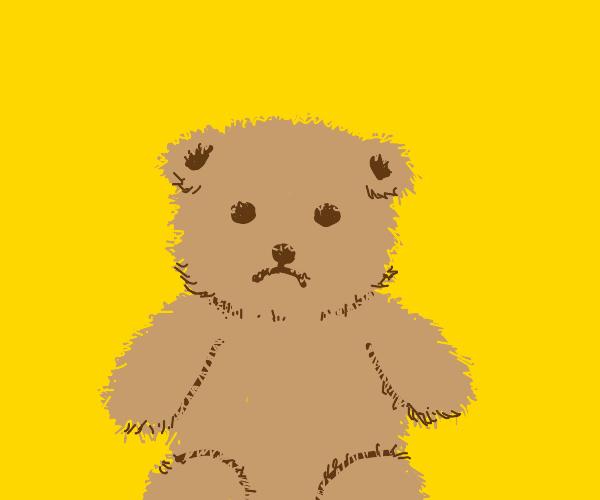 sad lil teddy bear