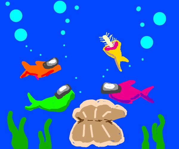 if among us crewmates were fish