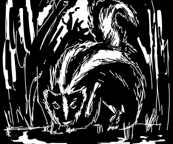 Concerned skunk
