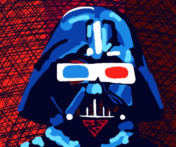 Darth Vader wearing 3D glasses