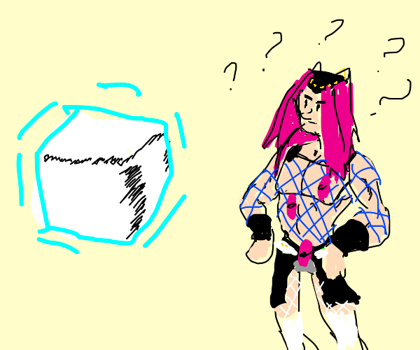 Anasui looks at white object