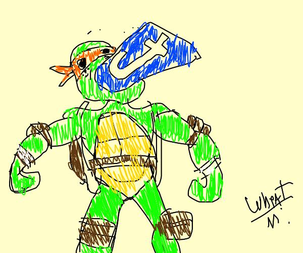 Michelangelo eating Tumblr