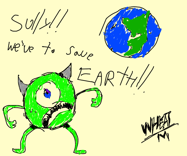 monsters inc characters want us to save earth