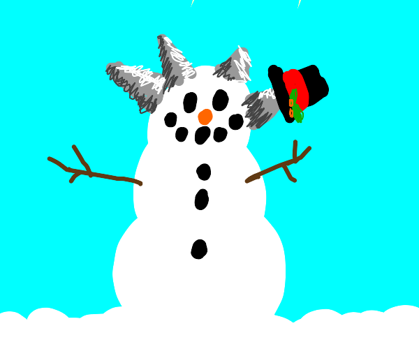 Snowman with spikes coming out of his head