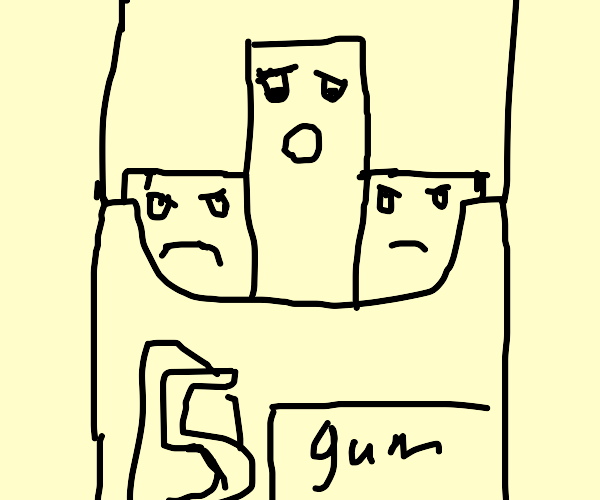 5gum top half is worried about buttom half ):