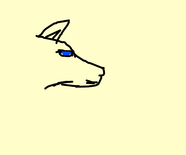 Wolf with aqua colored eyes