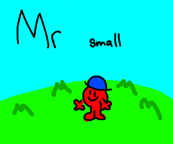 and here comes mr small in a big field