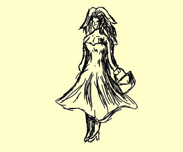 Lady in a dress