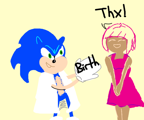 sonic helps give birth