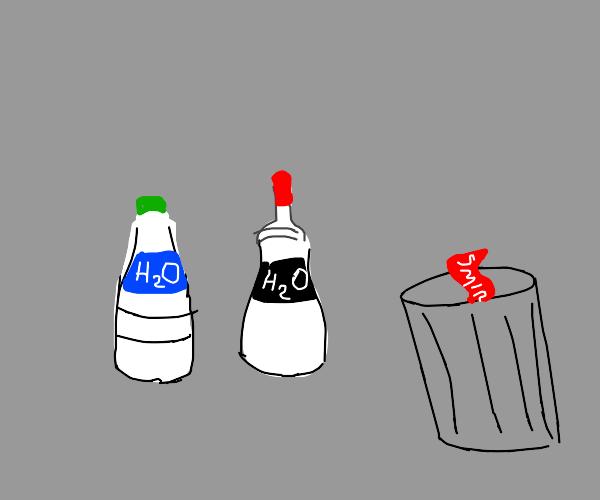 Vodka disguised as water