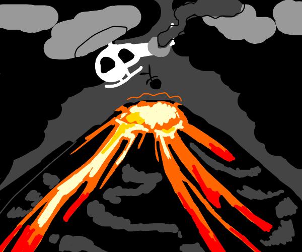 Human sacrifice to stop the volcano: fail.