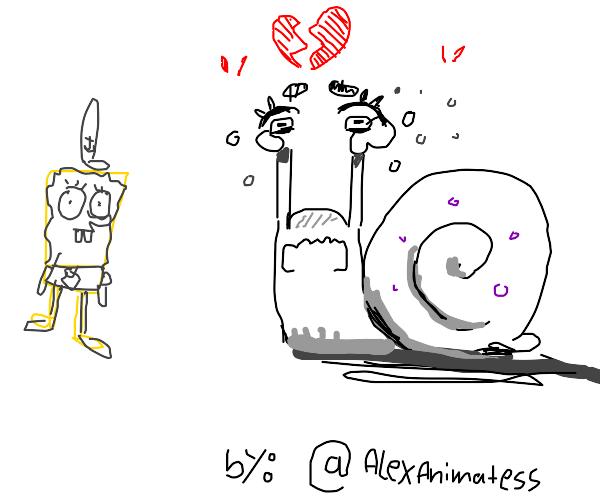 Sad Gary (Spongebob) :((