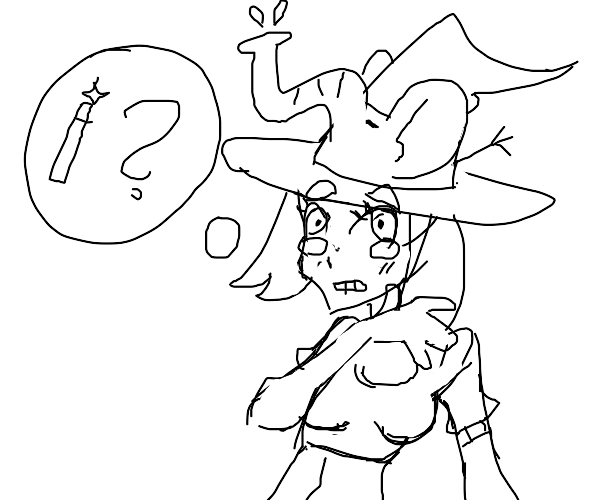 Elephant witch broke her wand! D: