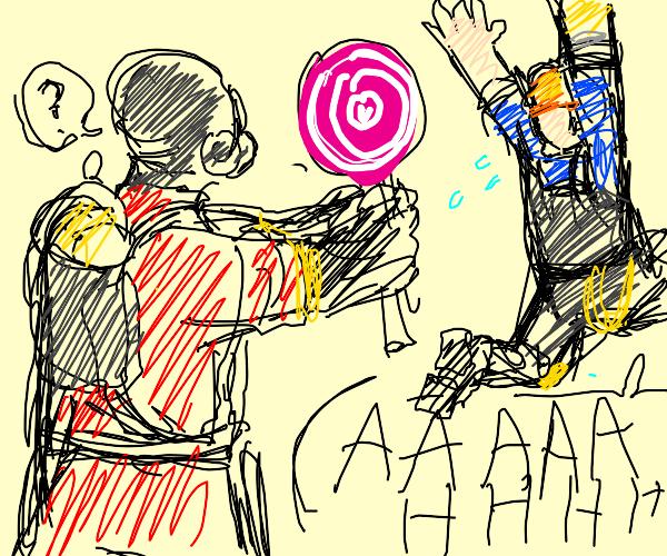 Engineer runs away from Pyro