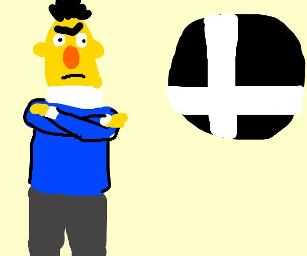 Bert is angry at Smash Bros logo