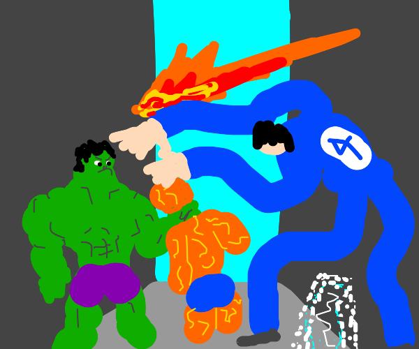 The Hulk vs The Fantastic Four
