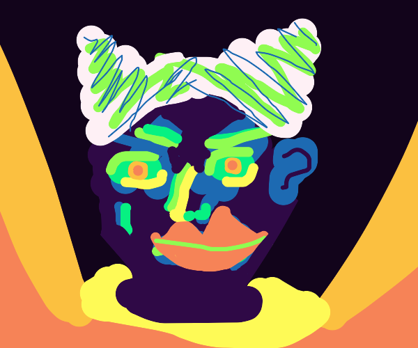 Abstract clown