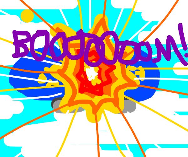 Bruh! you blew up a blimp