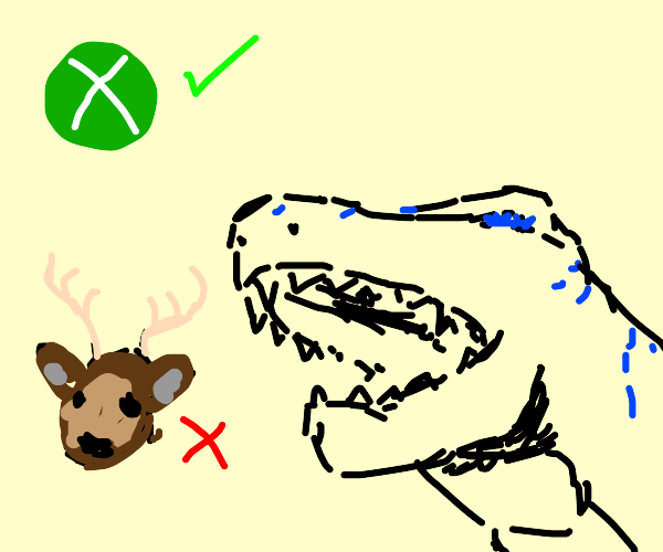 Godzilla doesnt likes deers but loves xbox
