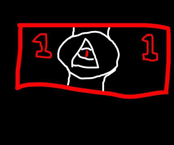 One illuminati dollar