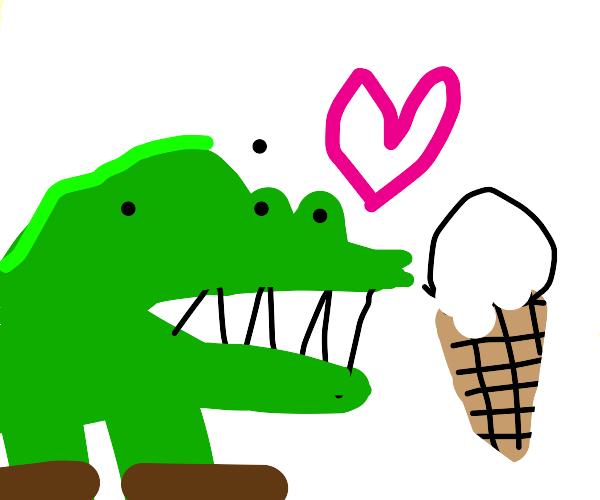 crocodile likes icecream