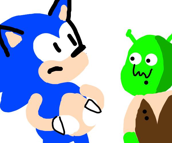 sonic the hedgehog is preg with shreks kid
