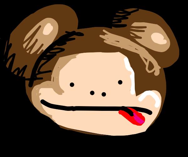 a monkey head