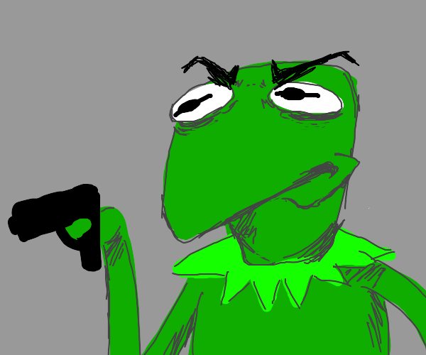 Kermit with a gun