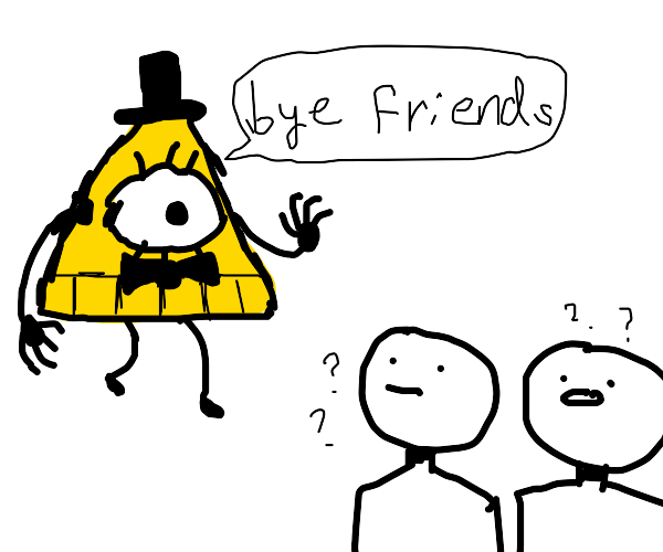 illuminati man says goodbye to his friend