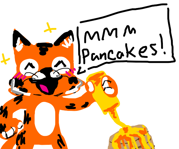 tigger likes maple syrup on his pancakes