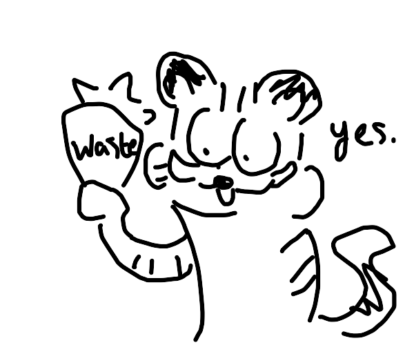 garfields playing with nuclear waste again