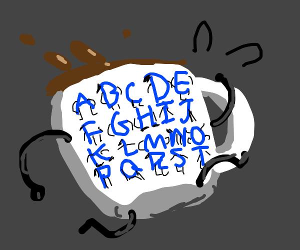 alphabet cup-ception