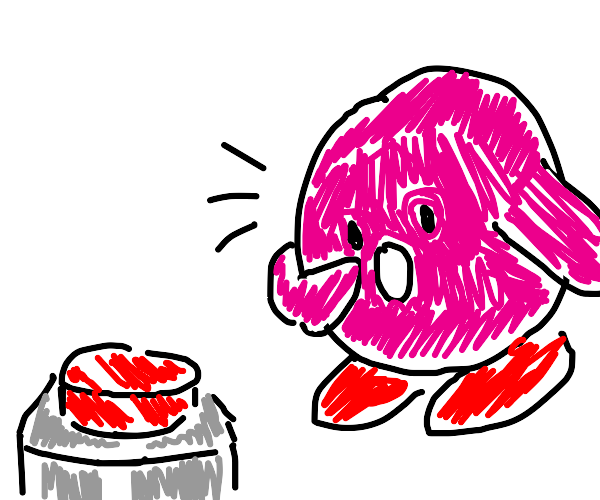 Kirby finds a red button