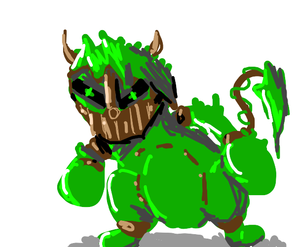 Swamp Thing designed as a Pokemon