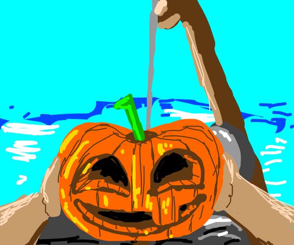POV: You fish up a pumpkin