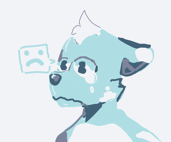 furry is sad